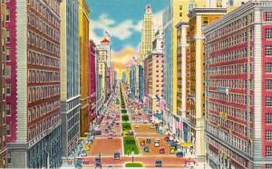 Walk+in+New+York+-+Vintage+-+Postcard+-+Park+Avenue