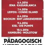 Tocotronic- PÄDAGOGISCH WERTLOS-TOUR 2016